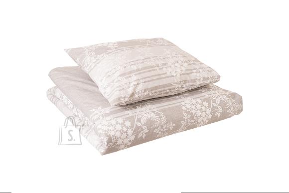 Tekstiilikompanii Voodipesukomplekt puuvill 150x210, 50x60 cm, BOVA helehall