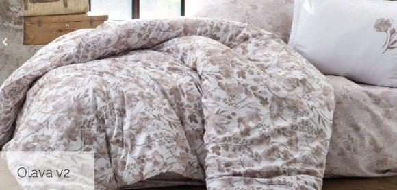 Tekstiilikompanii Voodipesukomplekt puuvill-satään 200x210, 2x 50x60 cm / OLAVA beež