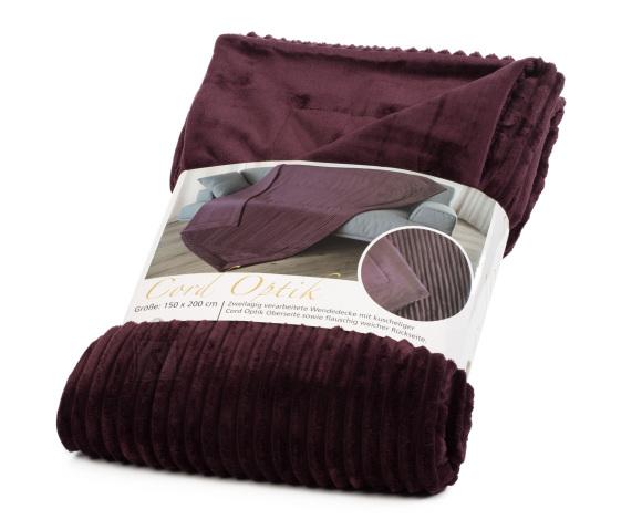 Tekstiilikompanii Pleed - tekk VELVET 150x200 cm, tumelilla