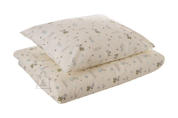 Tekstiilikompanii Voodipesukomplekt 110x140, 50x60 cm / LINNUKE helesinine
