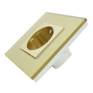 Klaasraamiga pistikupesa 16A, kuldne