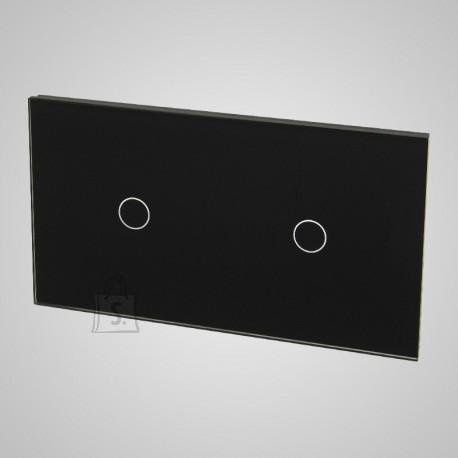 Tenux klaaspaneel kahele puutetundlikule lülitile