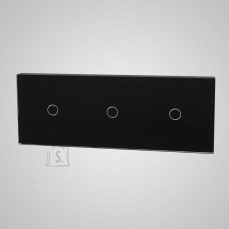 Tenux klaaspaneel kolmele puutetundlikule lülitile