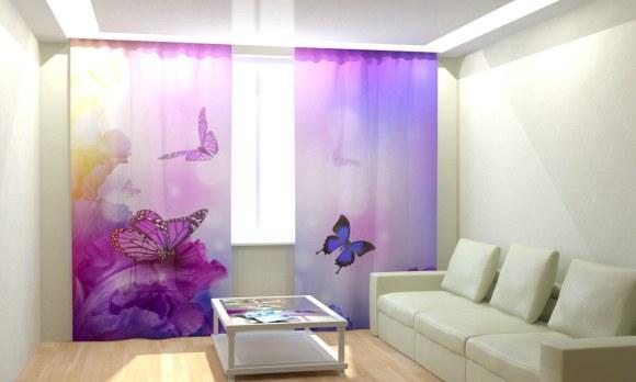 Fotokardinad Lilla liblikas 300x260 cm