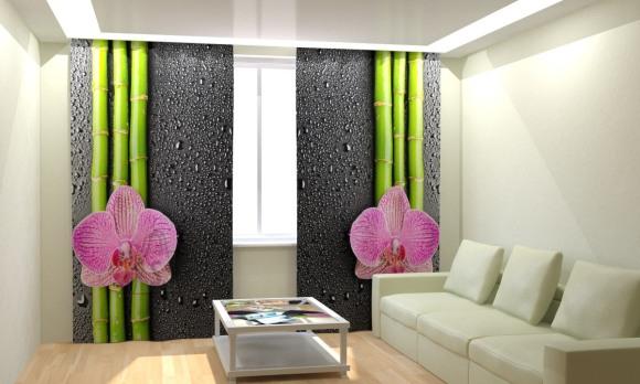 Fotokardinad Soft Orchid 300x260cm