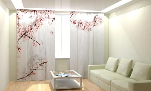 Fotokardinad Bloomy Cherry 300x260