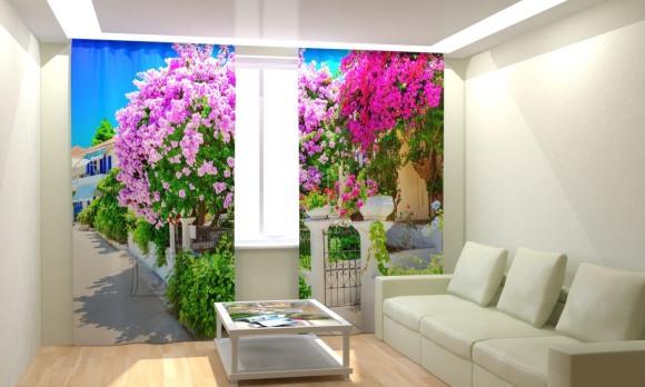 Fotokardinad Lilac Garden 300x260cm