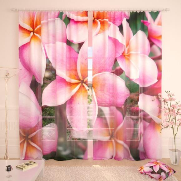 Tüllkardinad Tropical Flowers 290x260cm