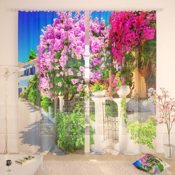 Tüllkardinad Lilac Garden 290x260cm