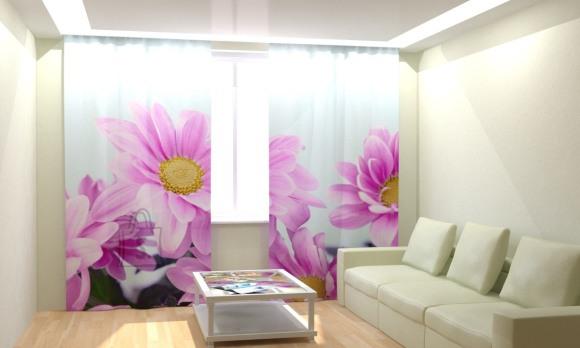 Fotokardinad Purple Flowers 300x260cm