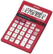Sharp kontorikalkulaator  ELM 812BRD rubiinpunane