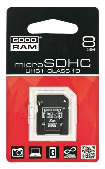 Goodram 8GB microSD mälukaart SDU8GHCUHS1AGRR10