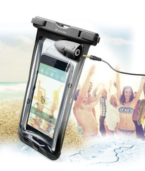 Cellularline veekindel telefoniümbris kuulariliitmikuga VOYAGERMUSIC15K