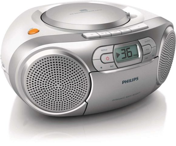 Philips AZ127/12 CD-raadio kassettmängijaga