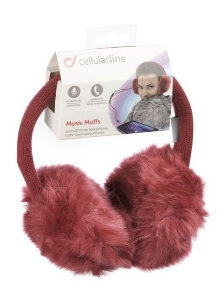 Cellularline sisseehitatud kuularitega soojad kõrvaklapid MUSICMUFFS15R