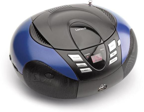 Lenco SCD 37USB CD-raadio Blue