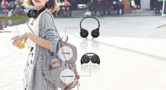 Panasonic Kõrvapealsed kõrvaklapid Panasonic RP-HF300ME-A, sinine