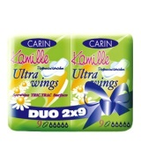 Carin Hügieenisidemed, Ultra wings Kamille Duo 2x9tk