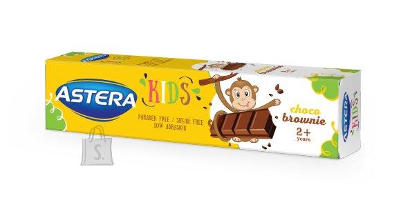 Astera hambapasta lastele 2+ a. Šokolaadi browni maitseline/parabeeni ja suhkuvaba 50 ml
