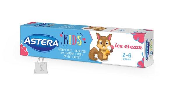 Astera hambapasta lastele 2-6.a. jäätise maitseline/parabeeni ja suhkuvaba 50 ml