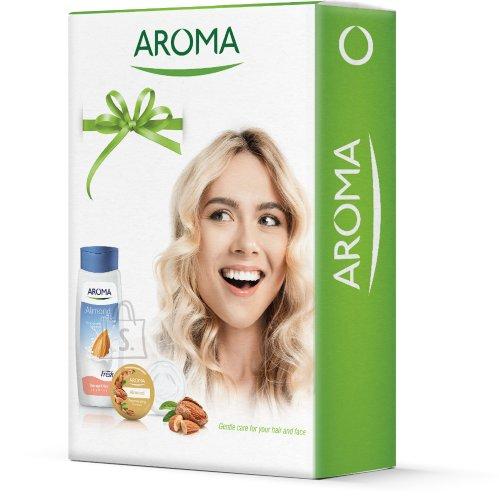 Aroma Komplekt mandlipiima šampooni 400 ml ja noorendava mandliõli näokreemiga 75 ml
