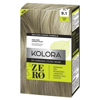 Kolora Zero 9.1 Hõbedane Tuhk, Ammoniaagivaba Juuksevärv, 60 ml