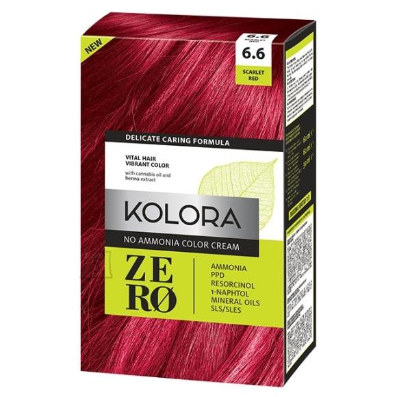 Kolora Zero 6.6 Erk Punane, Ammoniaagivaba Juuksevärv, 60 ml