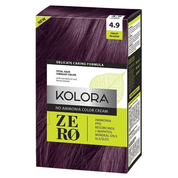 Kolora Zero 4.9 Lilla, Ammoniaagivaba Juuksevärv, 60 ml