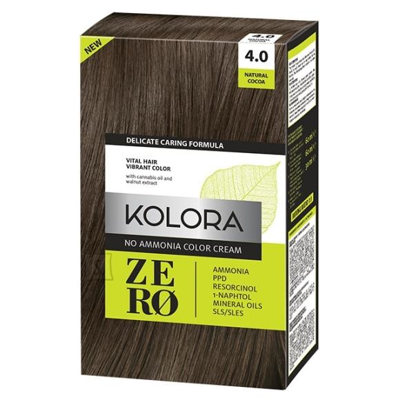 Kolora Zero 4.0 Naturaalne Kakao, Ammoniaagivaba Juuksevärv, 60 ml