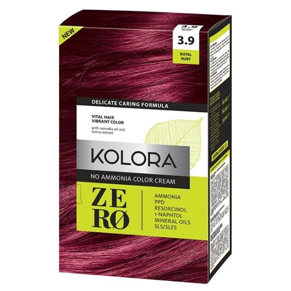 Kolora Zero 3.9 Rubiin, Ammoniaagivaba Juuksevärv, 60 ml