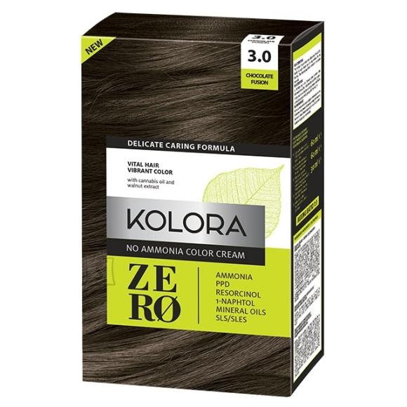 Kolora Zero 3.0 Šokolaad, Ammoniaagivaba Juuksevärv, 60 ml