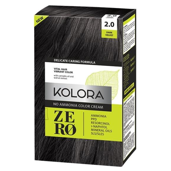 Kolora Zero 2.0 Tume Velvet, Ammoniaagivaba Juuksevärv, 60 ml