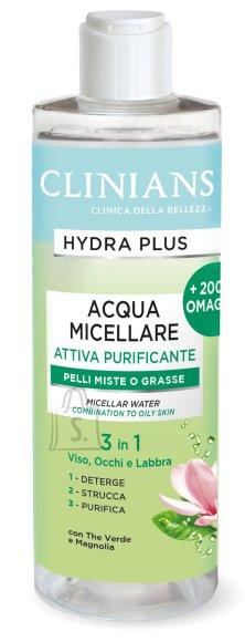 Clinians Hydra Plus mitsellaarvesi kombineeritud ja rasusele näonahale 400ml