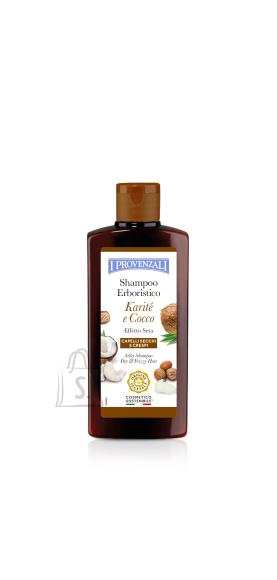 I Provenzali Sheavõi-Kookosõli siidne šampoon kuivadele, habrastele  ja tuhmidele juustele 250ml