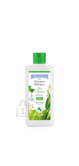 I Provenzali Aaloe orgaaniline šampoon aaloe vera ja kaeraga normaalsetele juustele 250ml