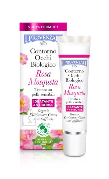 I Provenzali Bio Rosa Mosqueta orgaaniline turseid vähendav silmaümbruskreem 15ml