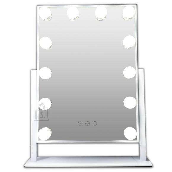 Gerard Brinard Hollywood Meigipeegel 12 X LED valgusega, metallist, elegantse ja õhukese disainiga (48x34x8 cm)