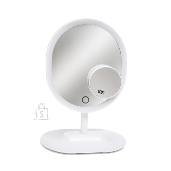 Balvi Meigipeegel Valge LED valgusega ja alusega (30x21,3x14,5 cm)
