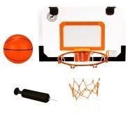 New Port mini korvpallilaud + rõngas võrguga, pall ja pallipump
