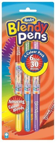 RenArt viltpliiatsid Blendy Pens 6-värvi