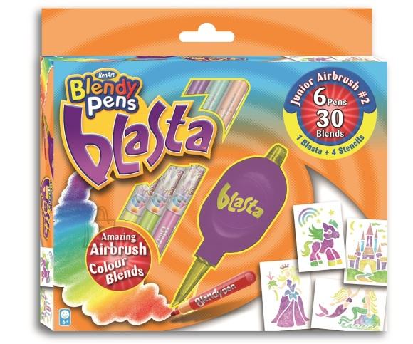 RenArt viltpliiatsid Blendy Pens Blasta värvipritsiga 6-värvi