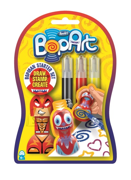 RenArt viltpliiatsid Bopart stardikomplekt OmBop 3-värvi
