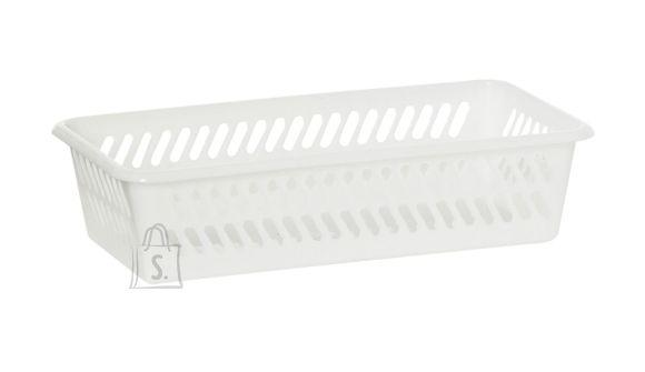 Plast Team plastikust hoiukorv, valge