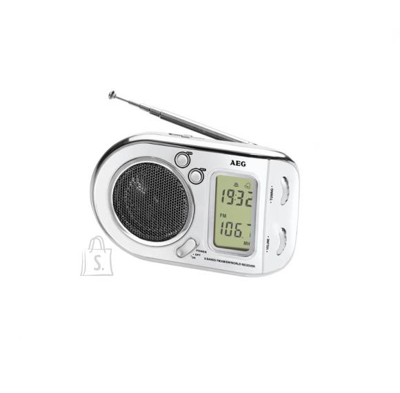 AEG taskuraadio LCD displeiga WE 4125, valge