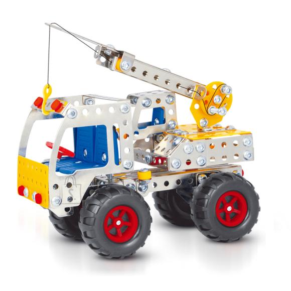 Konstruktor veoauto kraanaga