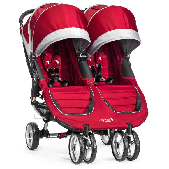 Baby Jogger jalutuskäru City Mini Double Crimson/Gray