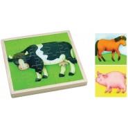 Gerardo's Toys taluloomadega puidust pusle 25 tk
