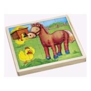 Gerardo's Toys puidust pusle taluloomad 25 tk