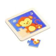 Gerardo's Toys väike puidust pusle loomakesega 9 tk