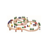 Gerardo's Toys puidust rongirada 75 osa